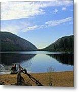 Fishing Conkle Lake Metal Print
