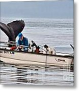 Fishing For Whales Metal Print