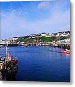 Fishing Harbour, Dunmore East, Ireland Metal Print