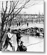 Fishing In The Bronx River,  New York Metal Print