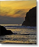 Fishing In The Dark Metal Print
