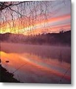 Fishing Lake Eildon Metal Print