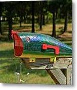 Fishing Lure Mailbox 2 Metal Print