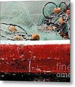 Fishing Net Metal Print by Sophie Vigneault