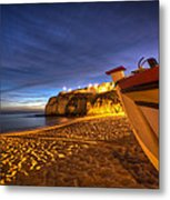 Fishing Night Off Metal Print