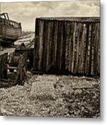 Fishing Remains At Dungeness Metal Print