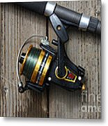 Fishing Rod And Reel . 7d13542 Metal Print by Wingsdomain Art and Photography