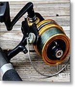 Fishing Rod And Reel . 7d13549 Metal Print