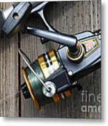 Fishing Rod And Reel . 7d13565 Metal Print by Wingsdomain Art and Photography