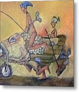 Fishing Smiles Metal Print by Carlos Rodriguez Yorde