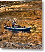 Fishing The Golden Hour Metal Print