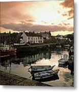 Fishing Village In Ireland Metal Print
