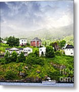 Fishing Village In Newfoundland Metal Print by Elena Elisseeva