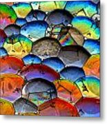 Fishy Bubbles Metal Print