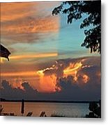 Fitting Sunset Metal Print