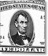 Five Dollar Bill Metal Print