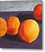 Five Peaches Metal Print by Dina Day
