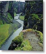 Fjardara Canyon Metal Print