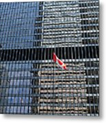 Flag In The City Metal Print