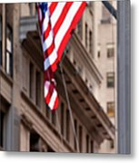 Flag On Broadway Metal Print