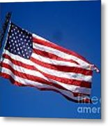 Flag On The Ladder Metal Print