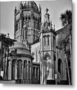 Flagler Memorial Presbyterian Church 3 - Bw Metal Print