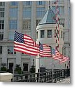 Flags On The Avenue Metal Print