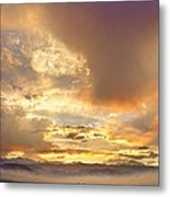Flagstaff Fire Sky Boulder Colorado Metal Print