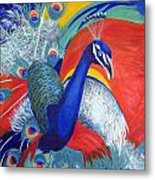 Flamboyant Peacock Metal Print