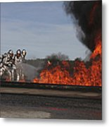 Flames Billow Out Of The Burn Pit Metal Print