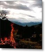 Flames With View Metal Print