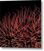 Flaming Fireworks Metal Print