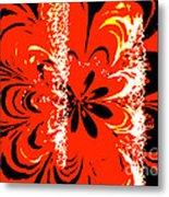 Flaming Flower Metal Print