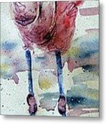 Flamingo Mist Metal Print