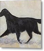Flatcoat Retriever Metal Print