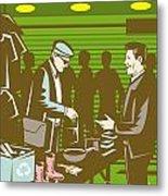 Flea Market Selling Trading Retro Metal Print by Aloysius Patrimonio