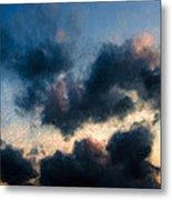 Fleecy Sunset Clouds  1208 Metal Print