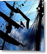 Fleet Week - Masts Metal Print by Maria Scarfone