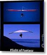 Flight Of Fantasy With Caption Metal Print