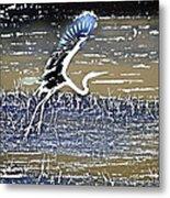Flight Of The Egret V5 Metal Print