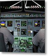 Flight Simulator Metal Print