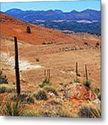 Flinders Ranges Hucks Lookout Metal Print