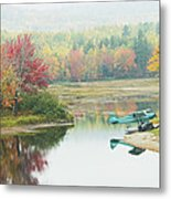 Float Plane On Pond Near Golden Road Maine Photo Poster Print Metal Print