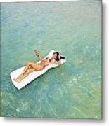 Floating At Sea Metal Print