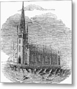 Floating Church, 1849 Metal Print