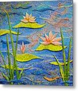 Floating Lilies Metal Print