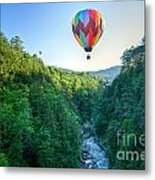 Floating Over Quechee Gorge Metal Print