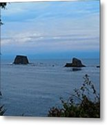 Floating Rocks Metal Print