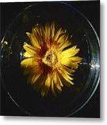 Floatting Flower Metal Print