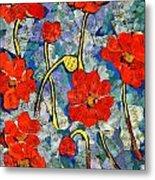 Floral Art - Red Poppies Metal Print